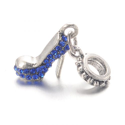 "Pendant shoe crystallized ""sapphire"""