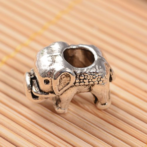Metal beaded elephant