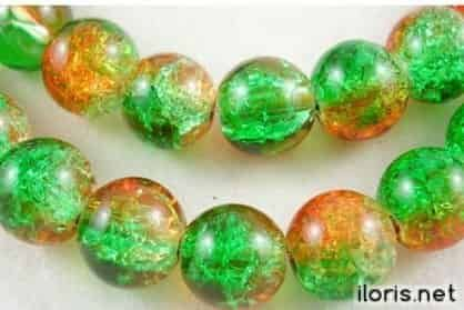 Crackle, glass bead diameter 6mm