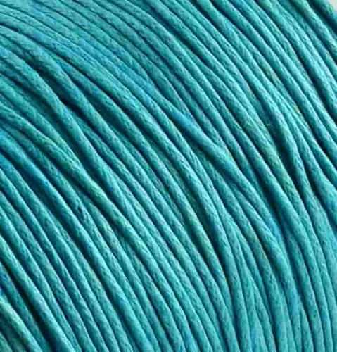 Cotton cord with wax coating blue 1