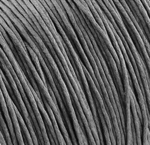Cotton cord with waxy coating gray 1