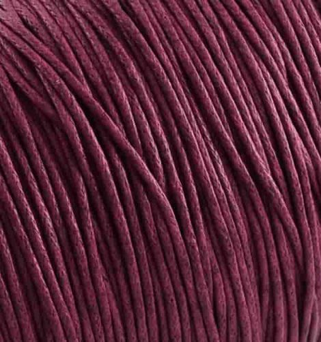 Round cotton cord brown wax coating